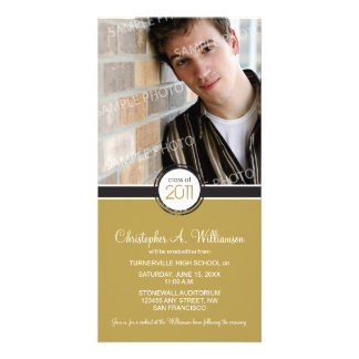 Modern Chic Graduation Announcement (camel)