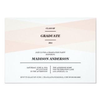 "Modern Chic | Graduation Invitation 5"" X 7"" Invitation Card"