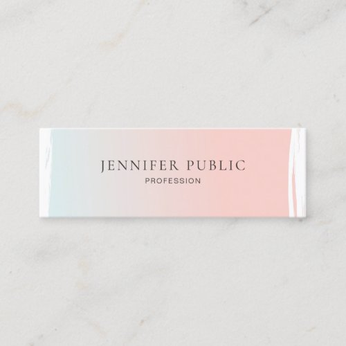 Modern Chic Graphic Design Professional Plain Mini Business Card