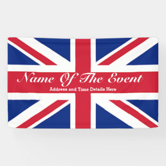 Modern  chic london UK union jack flag Banner