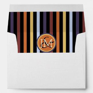 Modern chic manly pattern envelope