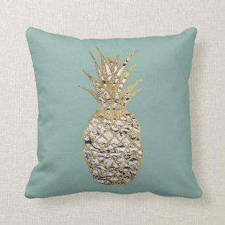 Modern Chic Marble Gold Pineapple Fruit Pillow