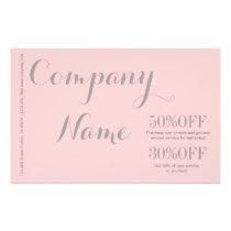 Modern Chic Minimalist Cosmetologist blush pink Flyer
