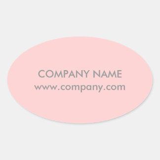 Modern Chic Minimalist Cosmetologist blush pink Oval Sticker