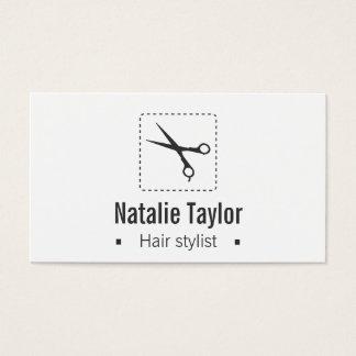 Modern, Chic, Minimalist, Hair Stylist Business Card