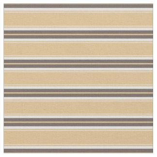 Modern chic neutral sand and brown stripes fabric