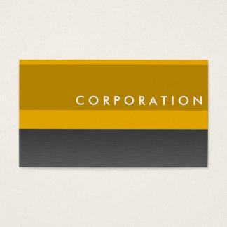 Modern, chic orange & titanium business cards