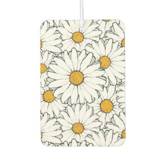 Modern Chic Ornate Daisy Floral Pattern Watercolor