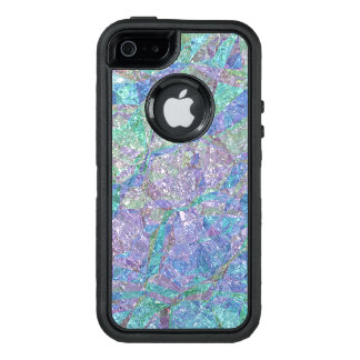 Modern Chic Pastel Colors Marble Mosaic Pattern OtterBox Defender iPhone Case