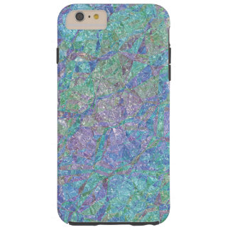 Modern Chic Pastel Colors Marble Mosaic Pattern Tough iPhone 6 Plus Case