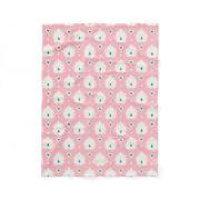 Modern chic pastel pink green ikat pattern fleece blanket