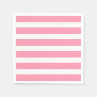 Modern Chic Pink Stripe Party Napkins