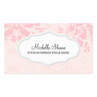 Modern Chic Professional Floral Pink Business Card