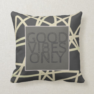 modern chic quote pillow good vibes only