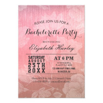 Modern Chic Rose Gold Floral Bachelorette Party Card