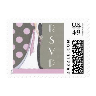 Modern Chic RSVP Postage Stamp