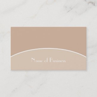 Modern Chic Sophisticated Beige Tan With Name Business Card