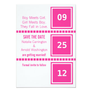 Modern Chic Squares Save the Date Announcement