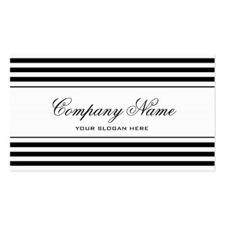Modern chic striped business card template