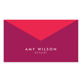 Modern Chic Stylist Color Block Pink Purple Business Card