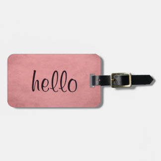 Modern Chic Textured Pink Luggage Tag