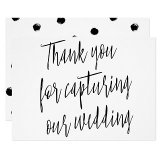 "Modern Chic ""Thank you for capturing our wedding"" Card"