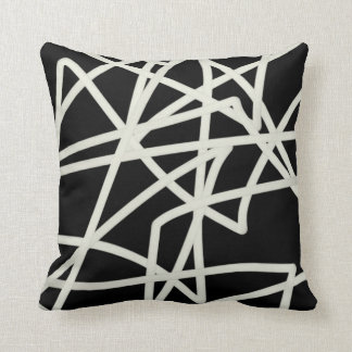 modern chic throw pillow bold abstract pattern