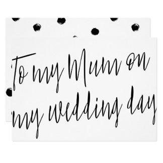 "Modern Chic ""To my mum on my wedding day"" Card"