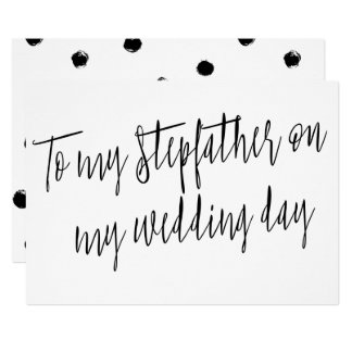 """Modern Chic """"To my stepfather on my wedding day"""" Card"""