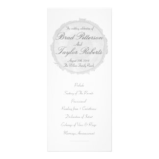 Modern & Chic Tree Slice Wedding Rackcard Rack Card