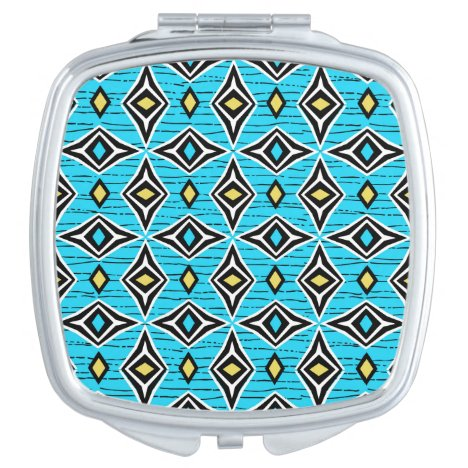 Modern chic tribal aztec design makeup mirror