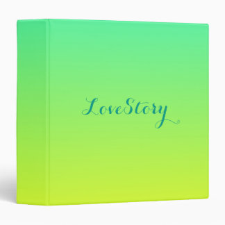 modern chic turquoise yellow green ombre binder