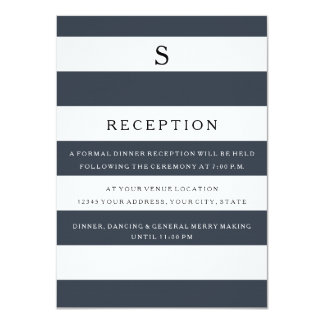 MODERN Chic Wide Stripes Matching Reception Invite
