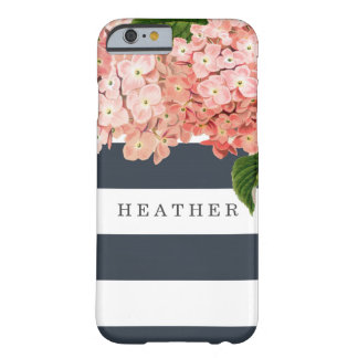 MODERN Chic Wide Stripes Vintage Hydrangea Floral Barely There iPhone 6 Case