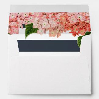 MODERN Chic Wide Stripes w Vintage Roses Floral Envelopes