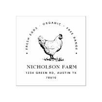 modern chicken return address Stamp