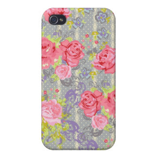 Modern Chintz by Bari J. Cases For iPhone 4