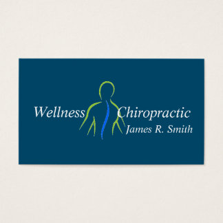 Modern Chiropractic Chiropractor Clinic Health Business Card