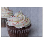 Modern Chocolate Cupcakes Sprinkle Cutting Board