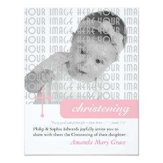 Modern Christening or Baptism 4.25x5.5 Paper Invitation Card