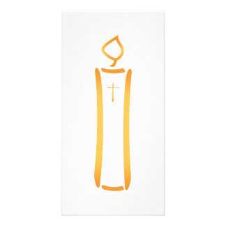 Modern Christian Candle Card