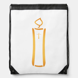 Modern Christian Candle Drawstring Bag