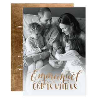 Modern Christian Christmas Photo Card at Zazzle