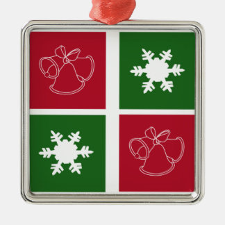 Modern Christmas Bells and Snowflakes Ornament