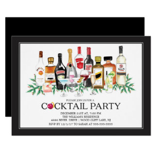 Modern Christmas Cocktail Party Invitation