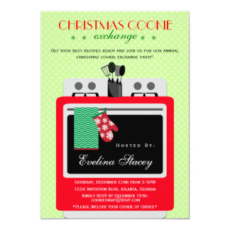 Modern Christmas Cookie Exchange Card