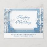 """Modern Christmas Deer Paper Cut Corporate Greeting Postcard<br><div class=""""desc"""">Modern Christmas Deer Paper Cut Corporate Greeting Postcard.</div>"""