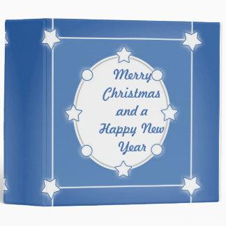 Modern Christmas design with stars 3 Ring Binder