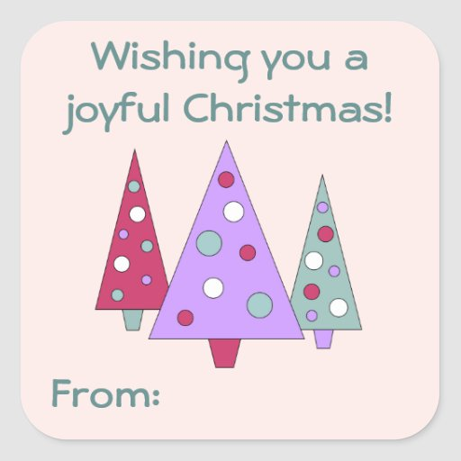 Modern Christmas Gift Tag Stickers Zazzle