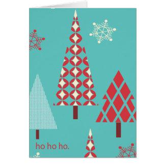 Modern christmas holiday card